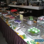 sweets table at lunch buffet