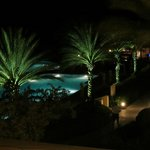 View from Lobby Balcony of Pool at night