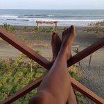 chillin on the beachside balcony
