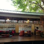 Open air lounge area