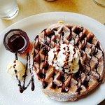 Belgian chocolate heaven waffle