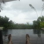 View from sun loungers