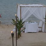 Private dinner on the beach