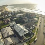 Merewether Beach House from the air