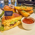 """The """"It's Better By the Bay"""" grilled cheese from WEST Bar an Grill"""