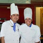 Domingo and Vianey at the Haiku restaurant