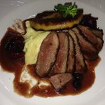 Duck breast with foie gras & Pouilly fumé sauce