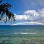 Rainbow - viewed off the lanai towards Molokai