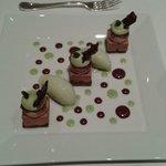 Dessert chocolat pistache