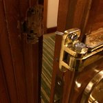 The latch was broken off my door, seems like for a long time. I reported it, no one ever came to