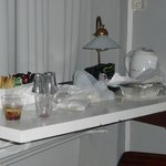 Zo zag de tafel er bij binnenkomst uit