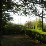 The hotel garden and view towards Teruel