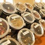a wide selection of loose leaf teas.