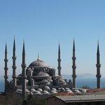 La Mosquée Bleue vue de la terrasse.