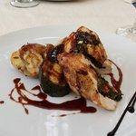 Gevulde kip met spinazie en chorizo