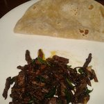 Beef fry and chapatti