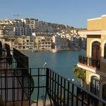 Blick vom Balkon unseres Zimmers