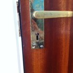 Door handle no lock