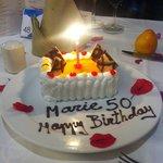 Finaste tårtan fick jag av hotellet Tack