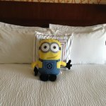 Housekeeping added a special touch. This was my son's.