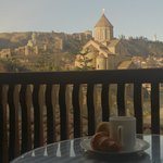 Breakfast on the balcony )