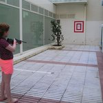 Villamarina Club, Salou. Rifle shooting takes place daily behind the dining area