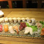 Sushi-sashimi combo.