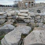 Parthenon stone graveyard...part of the painstaking restoration