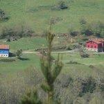 El hotel visto desde el pinar de Coviella