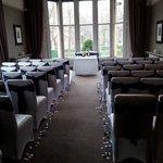 Wedding ceremony set up at hotel du vin