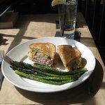 Turkey reuben and asparagus-delich