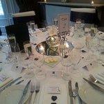Wedding table set up at hotel du vin