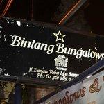 Bintang Bungalows Sign