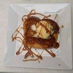 Brioche fraiche façon pain-perdu, glace, crème caramel maison