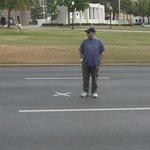 The spot where JFK was shot