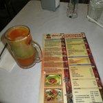 Fresh fruit drink & menu