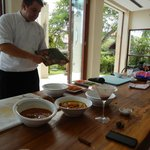 Chef Dean teaching us about the spices