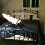 Beds much too big for rooms!