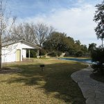 Pool and pool house at the ranch