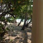 la playa desde la terraza de la habitacion 209