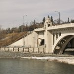 Center Bridge by Bow River