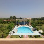 Riad garden and pool area