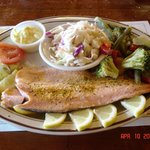Delicious trout dinner