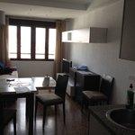 Cocina, comedor y sala, muy amplio y limpio