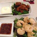 starters, prawns and mushrooms, yummy