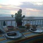 Dinner on the balcony!