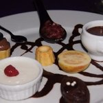 'oh, so decadent' dessert plate