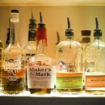 Extensive back bar selection