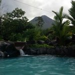 View of Arenal Volcano from the thermal pool