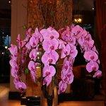 Цветы в холле отеля